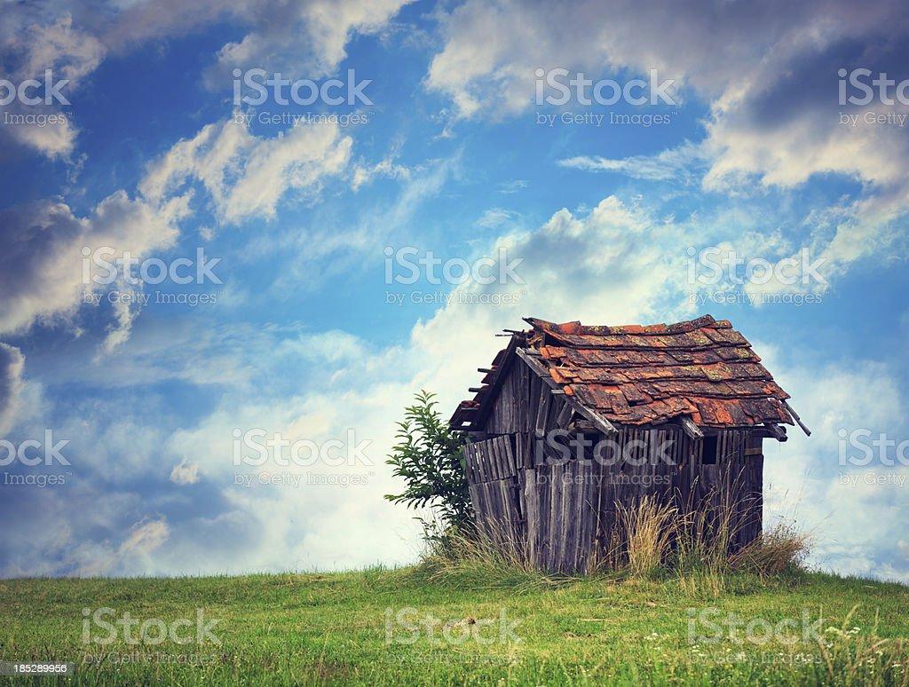 Abandoned Hut stock photo