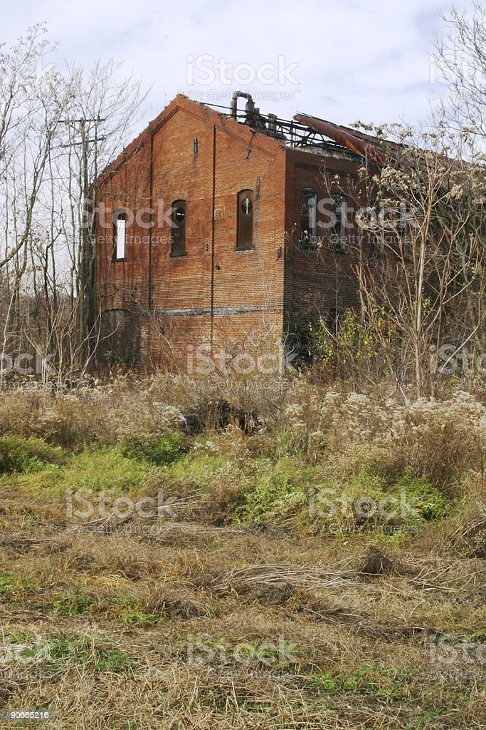 Abandoned Industrial Building 3 royalty-free stock photo