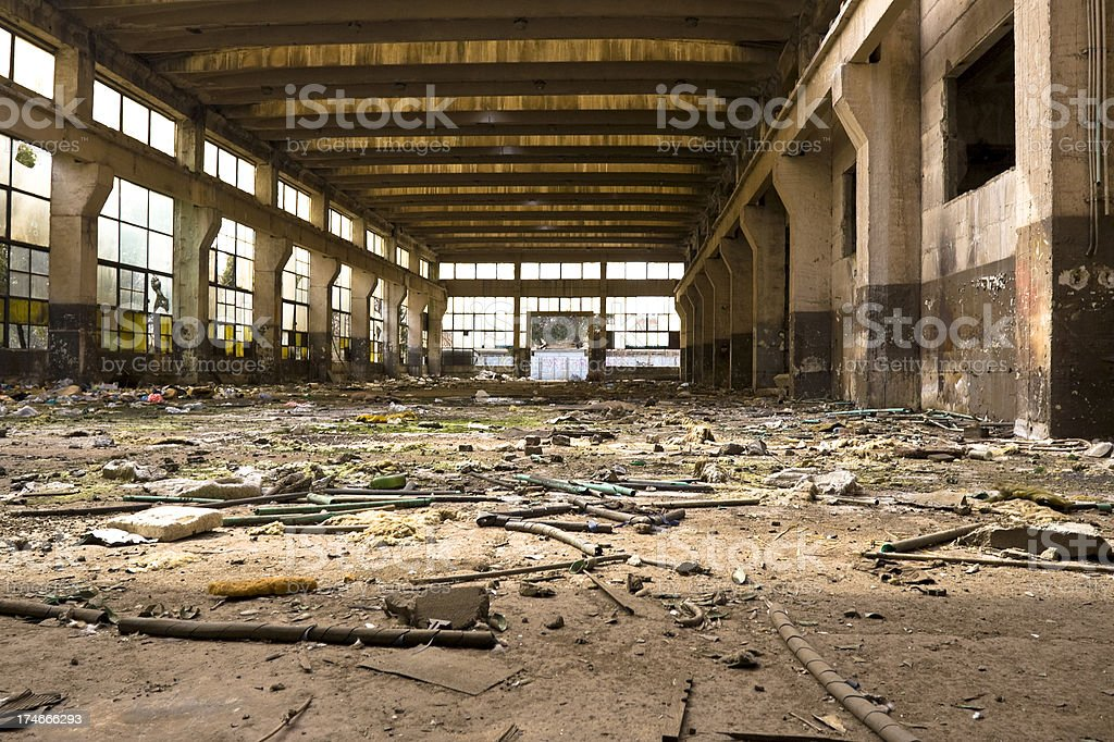 Abandoned industrial building royalty-free stock photo
