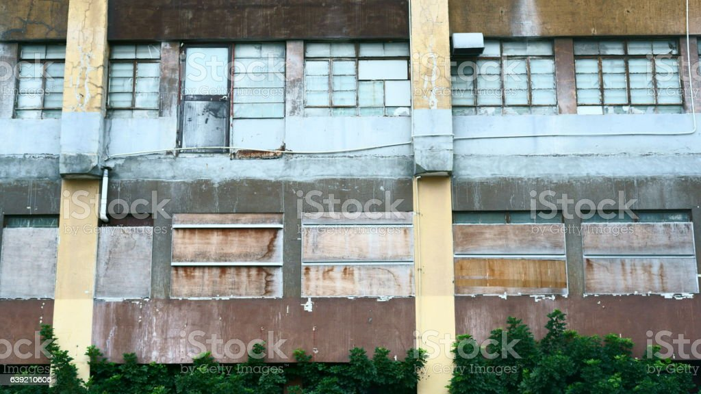 Abandoned industrial building stock photo