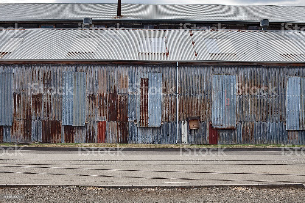 Abandoned Industrial Buildings stock photo