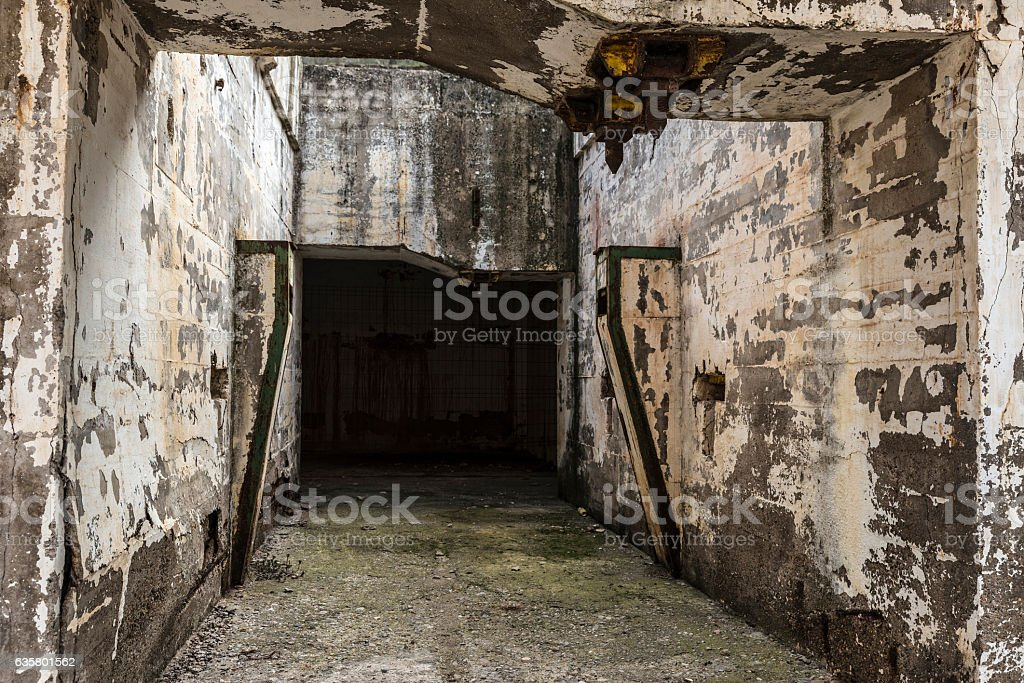 Abandoned industrial facilities of a mine stock photo
