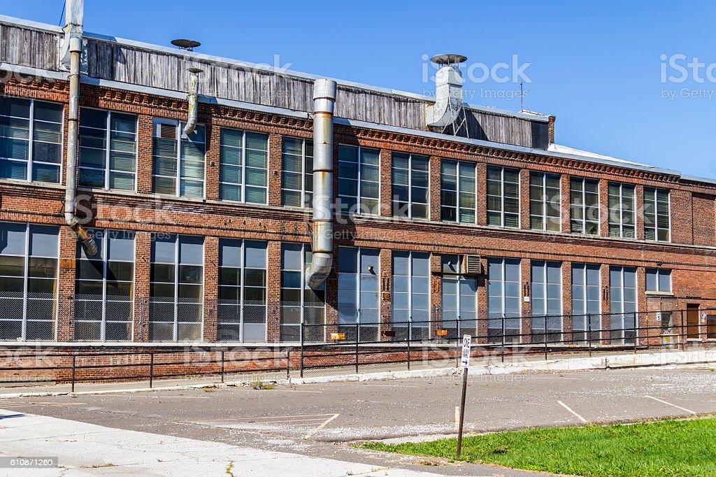 Abandoned Industrial Factory - Urban Desolation VI stock photo