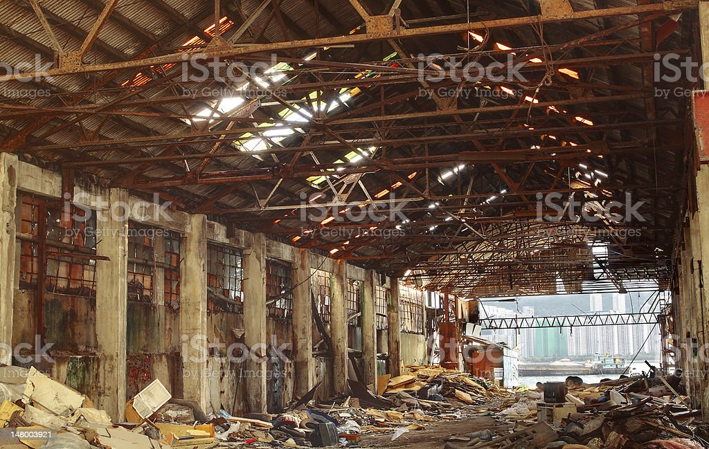 Abandoned Industrial Furnace royalty-free stock photo