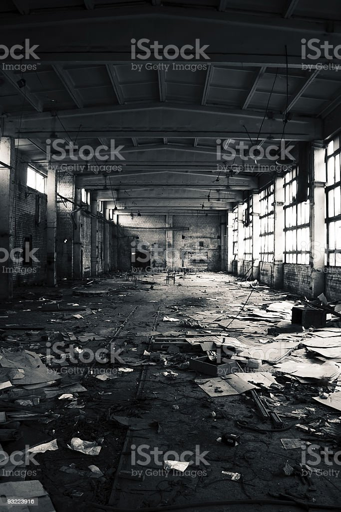 Abandoned Industrial interior royalty-free stock photo