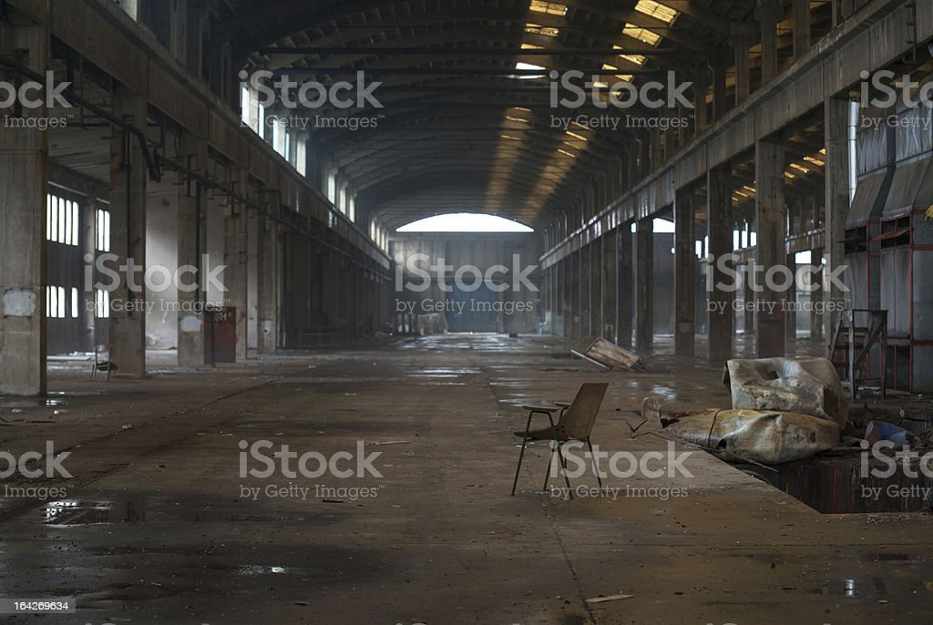 Abandoned industry hall royalty-free stock photo