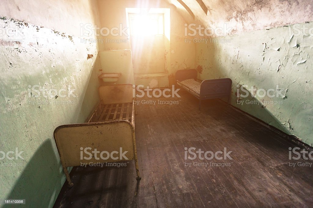 Abandoned Jail in Tallinn royalty-free stock photo