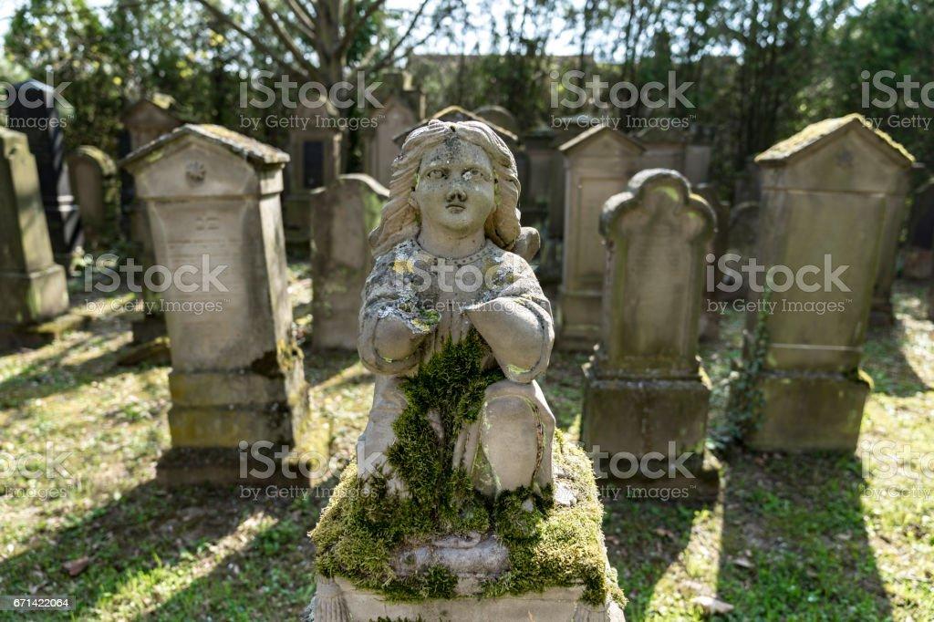 Abandoned Jewish cemetery near Floersheim-Dalsheim Rhine-Hesse Germany stock photo
