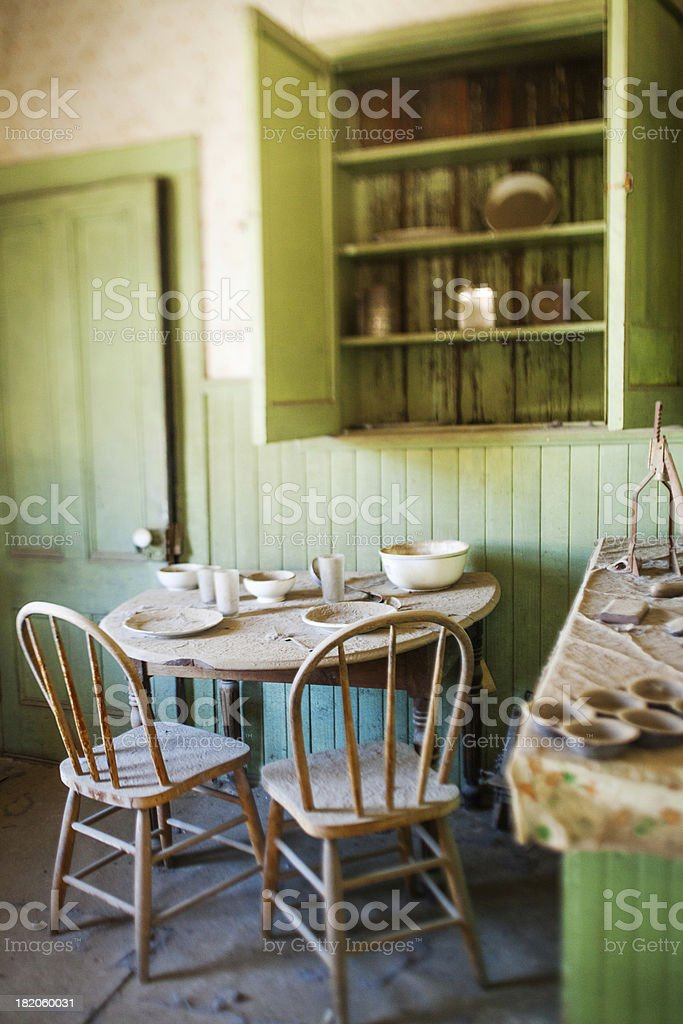 Abandoned kitchen stock photo