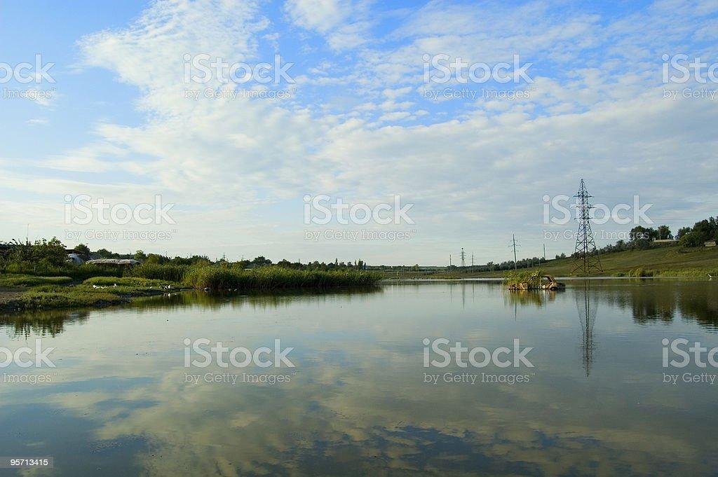 Abandoned lake stock photo