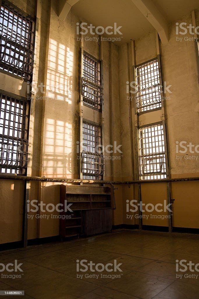 Abandoned Library at Alcatraz royalty-free stock photo