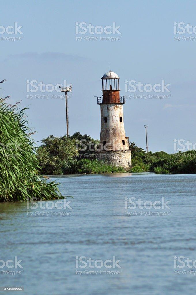 Abandoned lighthouse of Sulina, Danube delta stock photo