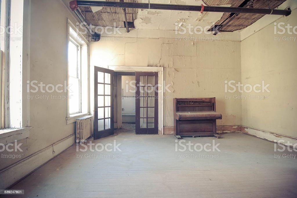 Abandoned Loft Apartment stock photo