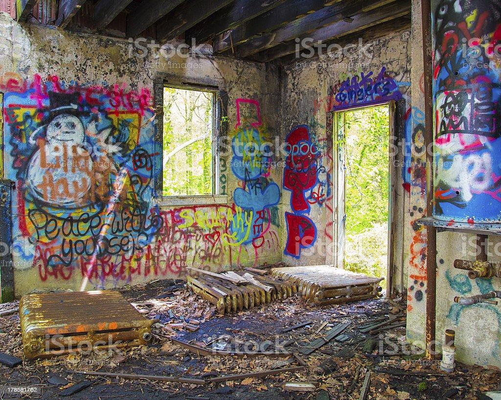 Abandoned Long Island Mansion royalty-free stock photo