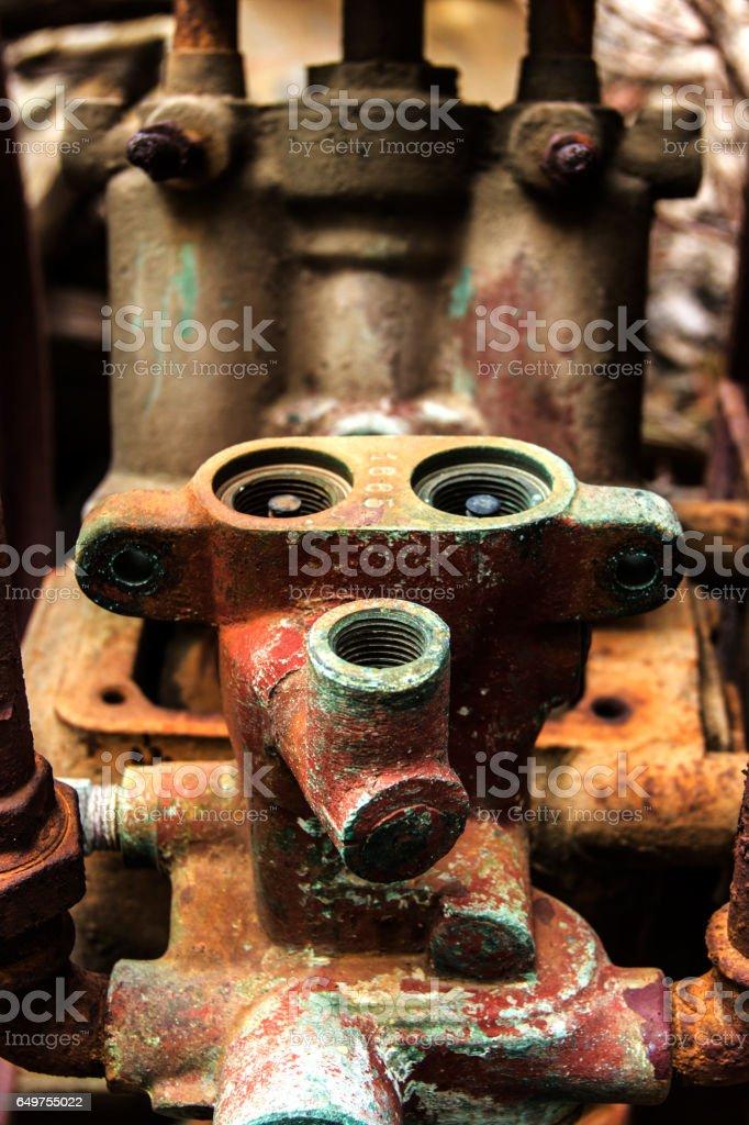 Abandoned machine part stock photo
