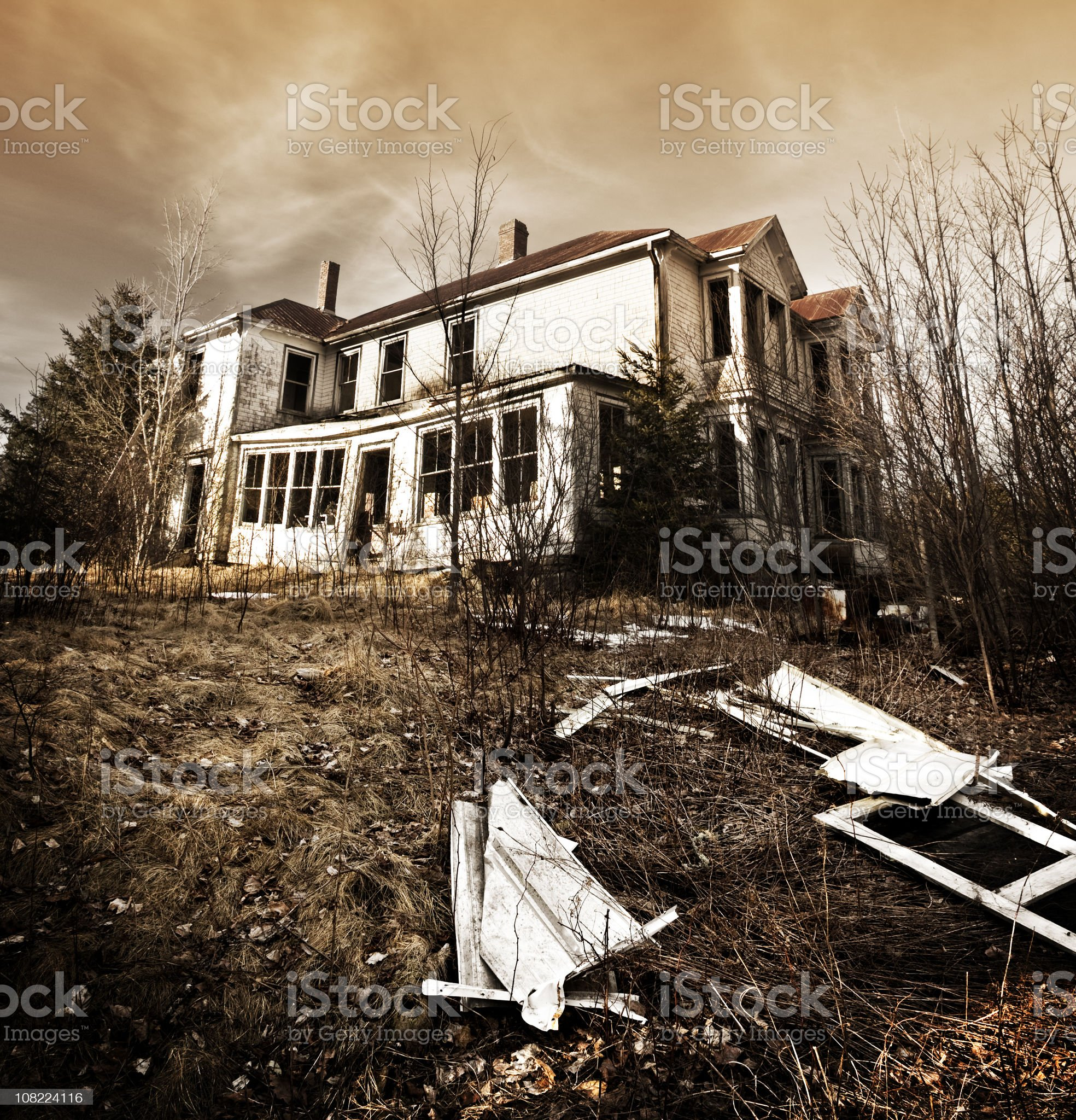 Abandoned Mansion royalty-free stock photo