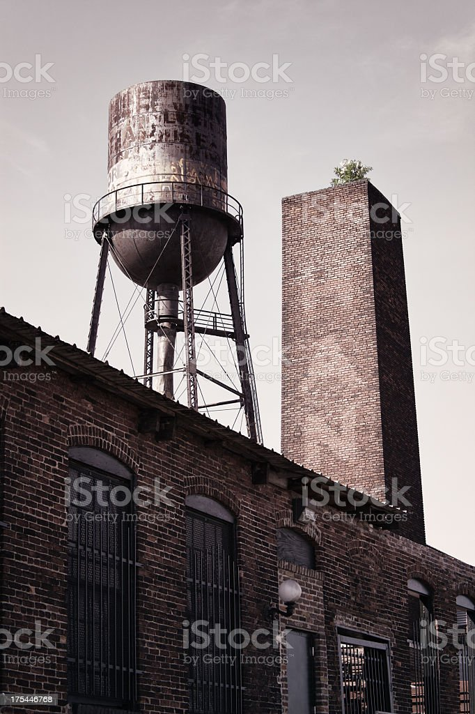 Abandoned Manufacturing Factory royalty-free stock photo