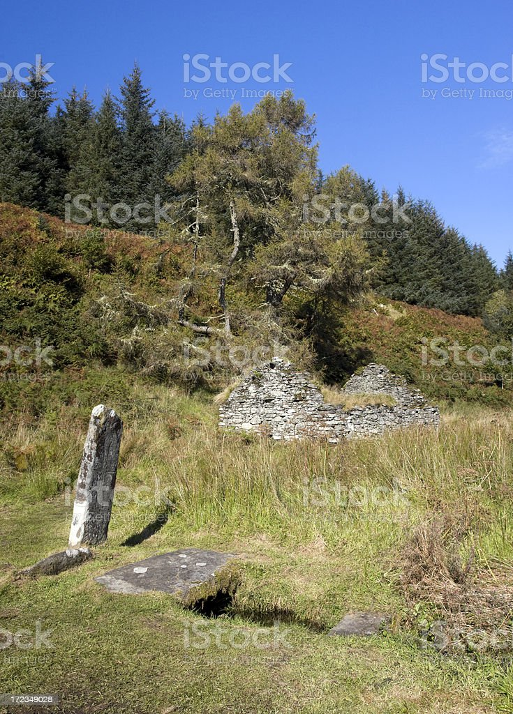 Abandoned Medieval Village royalty-free stock photo