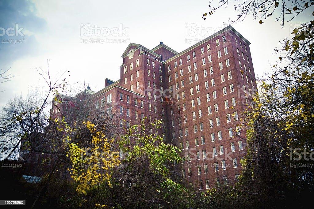 Abandoned Mental Asylum stock photo
