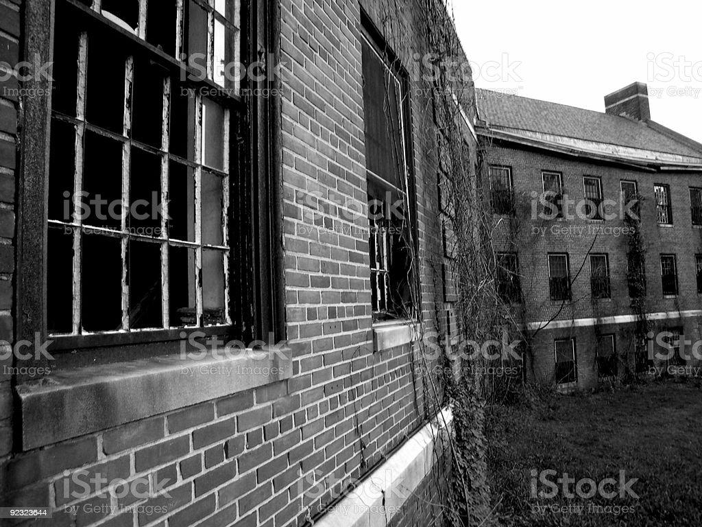 Abandoned mental hospital royalty-free stock photo