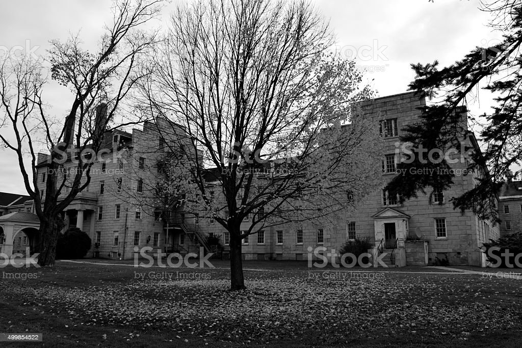 Abandoned Mental Institution stock photo