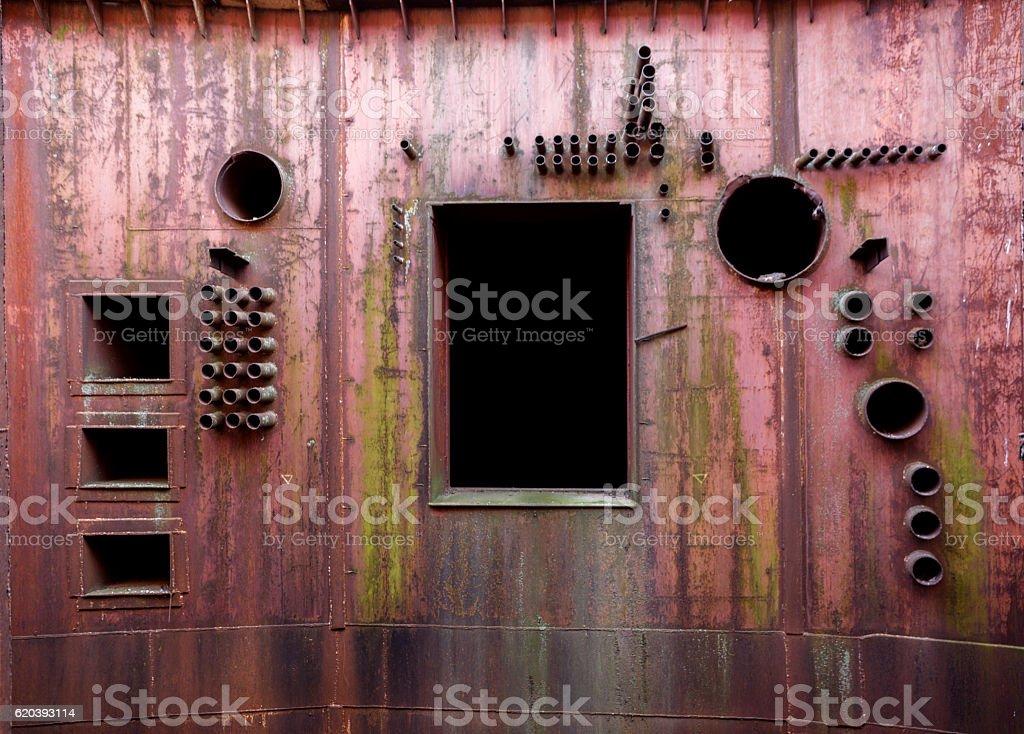 Abandoned military bunker stock photo