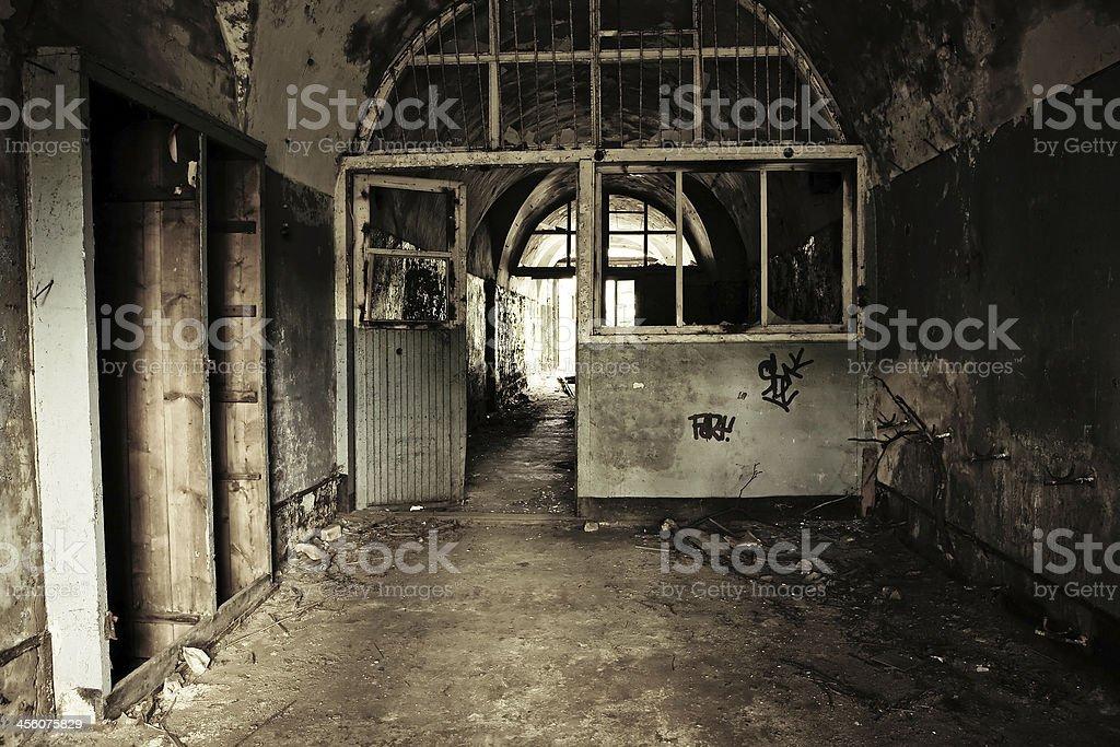 Abandoned military object royalty-free stock photo