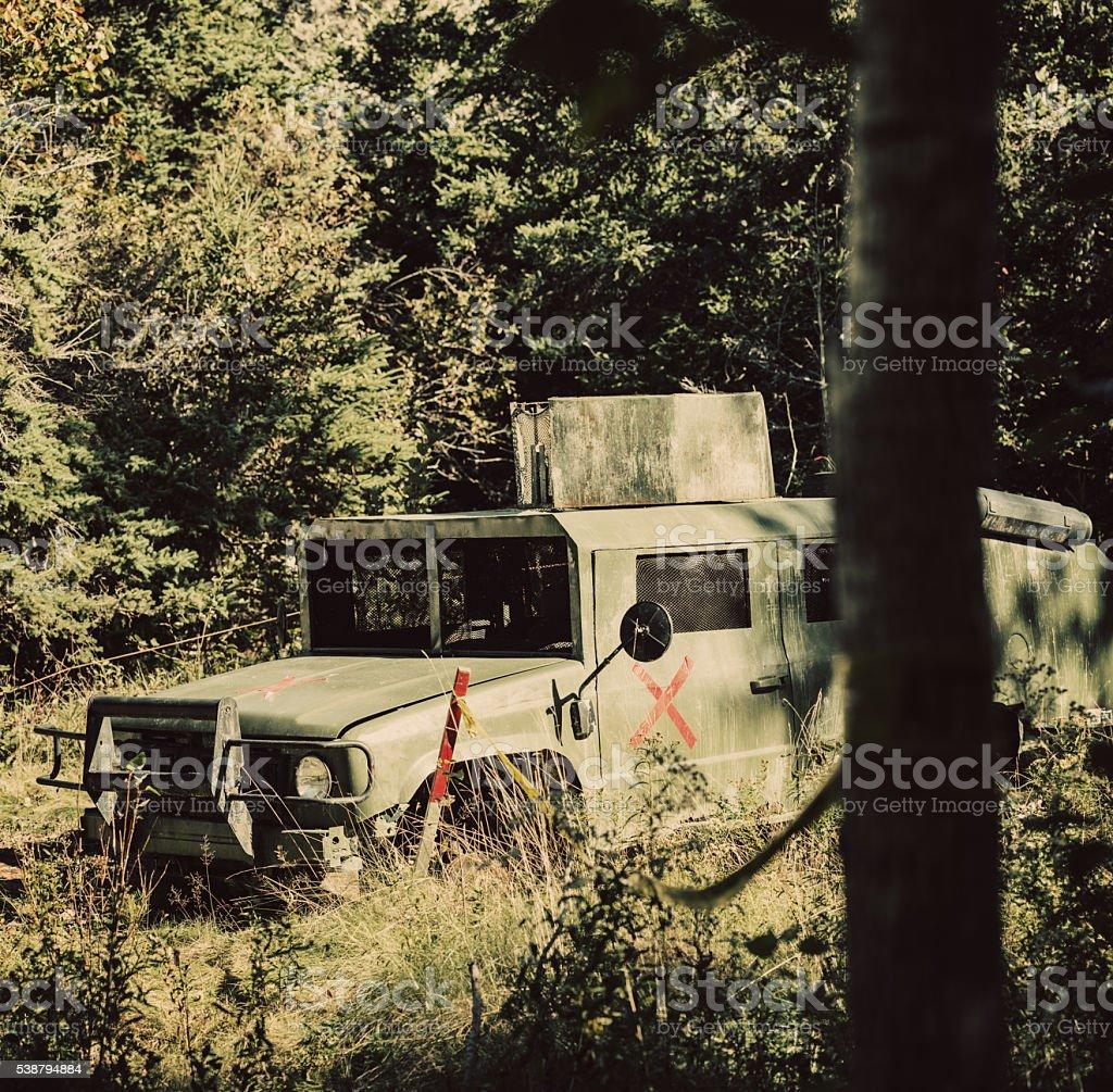 Abandoned Military Transport stock photo