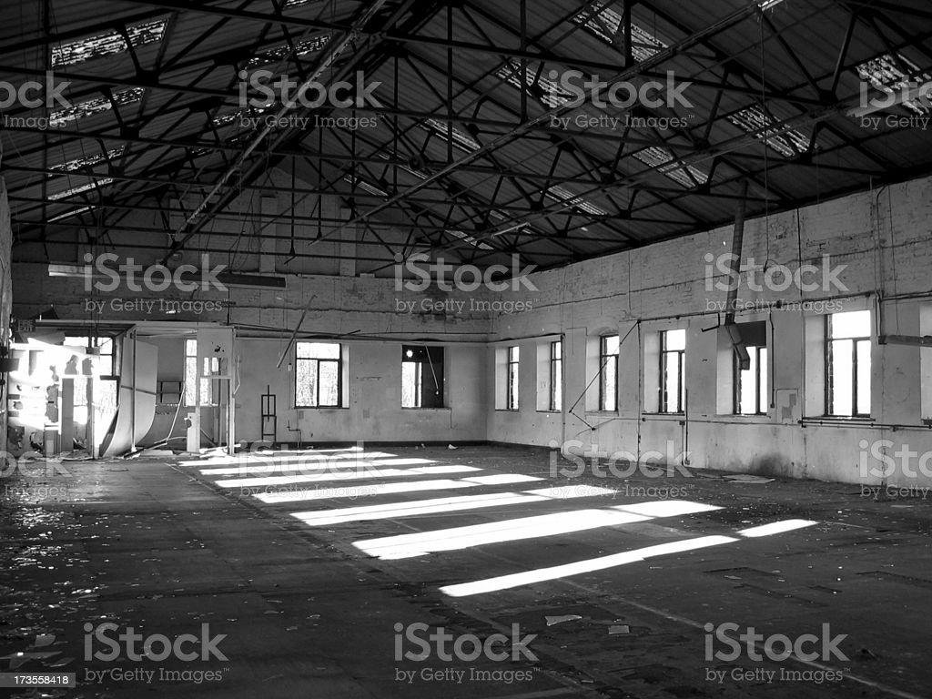 Abandoned mill interior shot. royalty-free stock photo