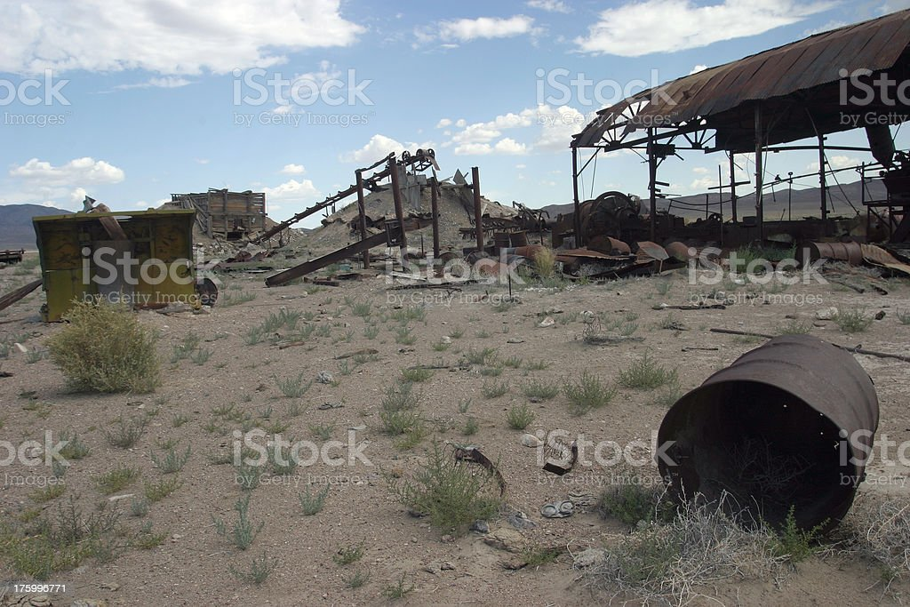 Abandoned mine from beginning of 20th century royalty-free stock photo