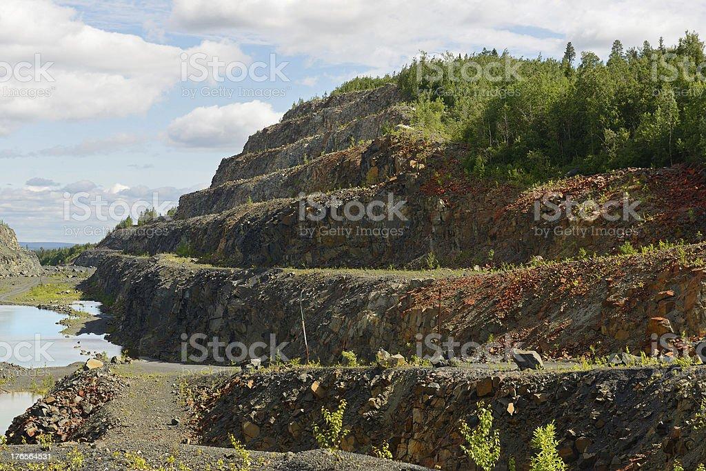 Abandoned mine iron ore royalty-free stock photo