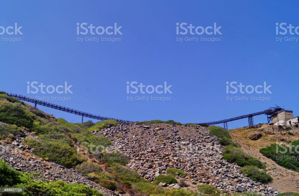 Abandoned mine of Ginevro, Elba Island stock photo