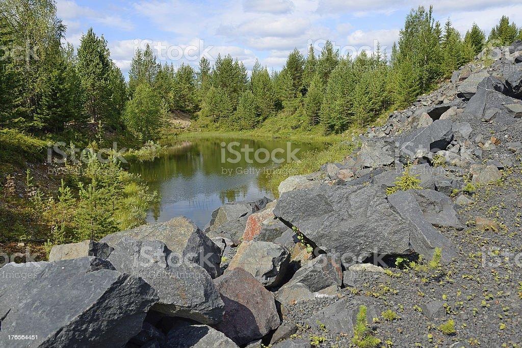 Abandoned mine royalty-free stock photo