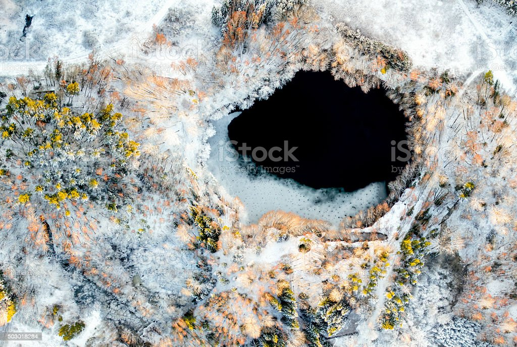Abandoned mine stock photo