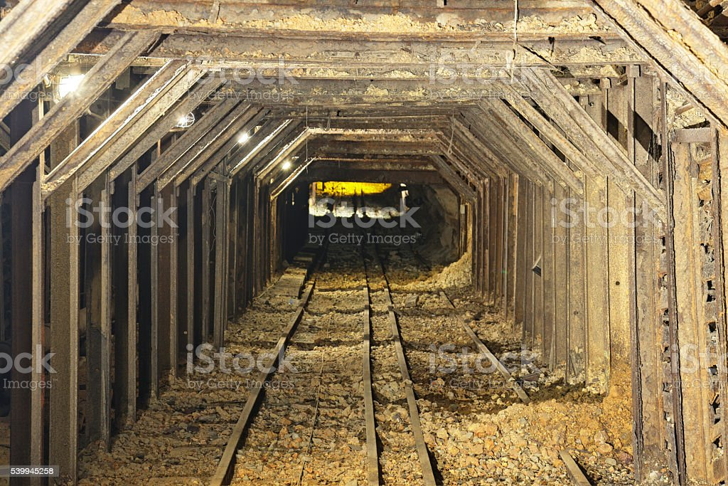 Abandoned Mine Shaft - California Gold Rush stock photo
