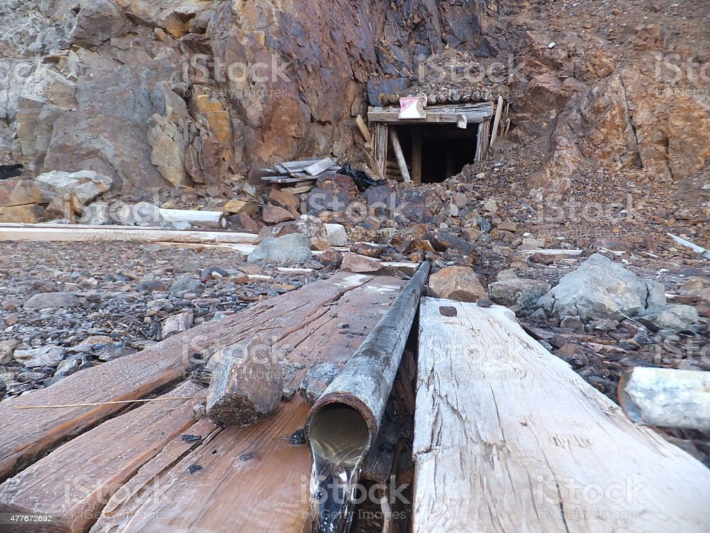 Abandoned mine shafts stock photo