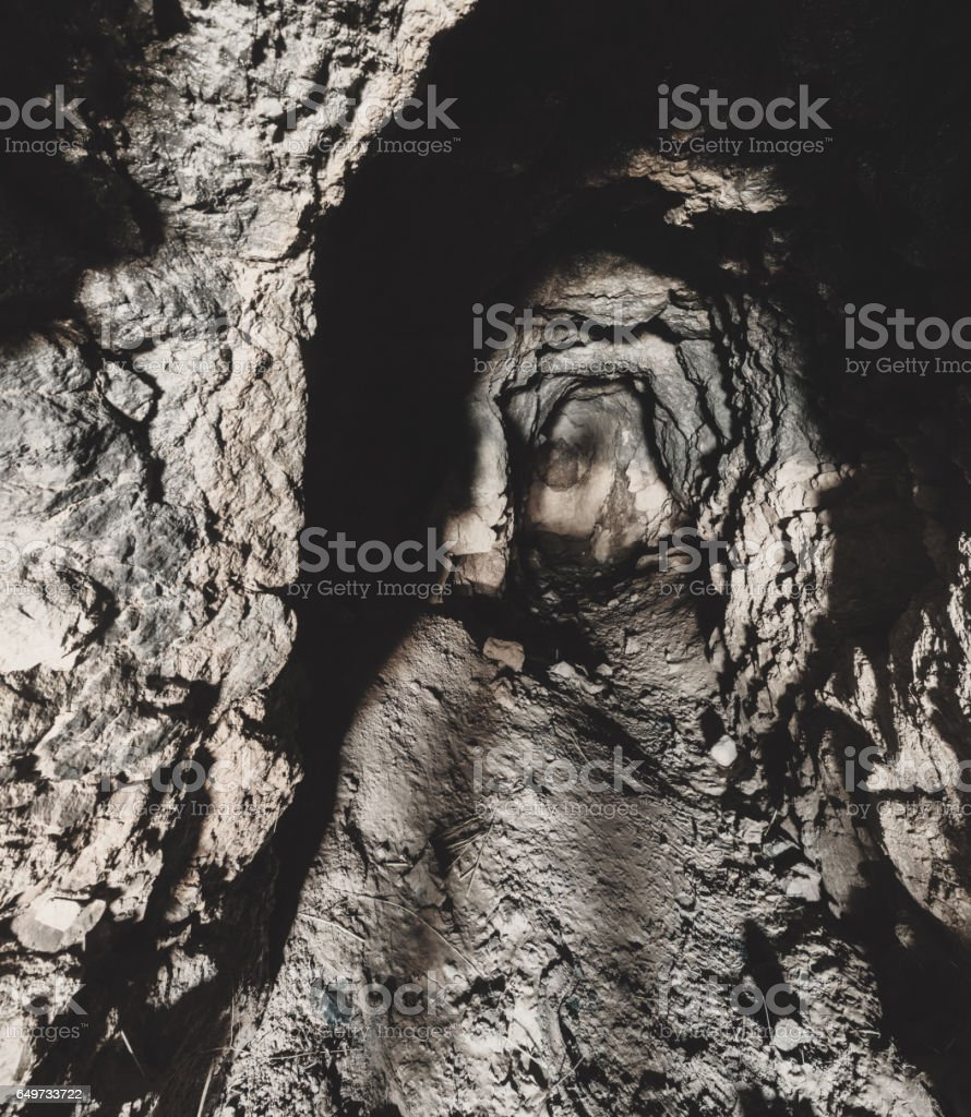 Abandoned Mineshaft stock photo
