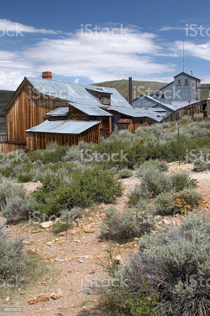 Abandoned Mining Town stock photo