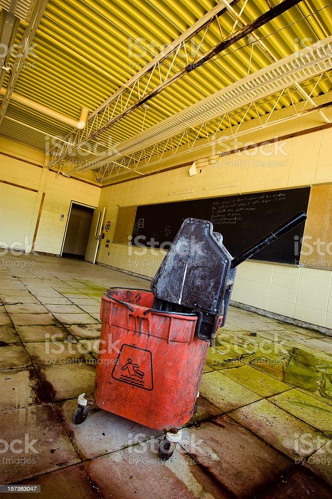 Abandoned moldy school royalty-free stock photo