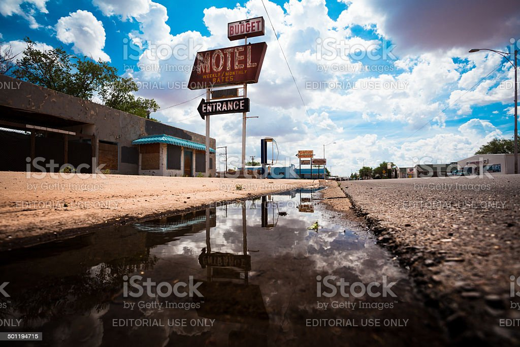Abandoned Motel on Route 66, USA stock photo