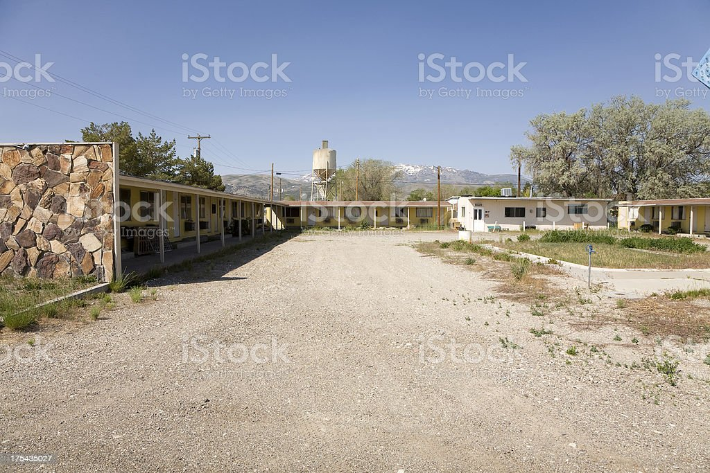 Abandoned Motel royalty-free stock photo