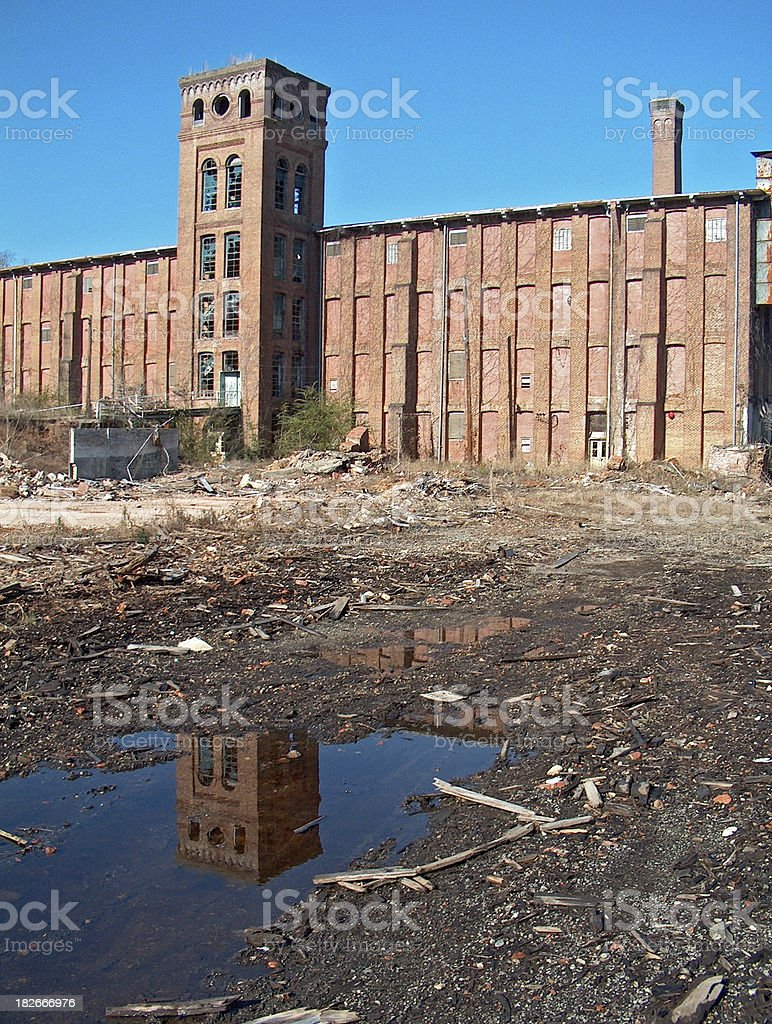 Abandoned Newry Mill stock photo