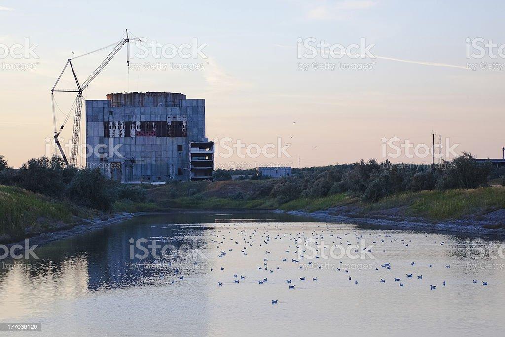 Abandoned nuclear power station, Schelkino, Crimea, Ukraine stock photo