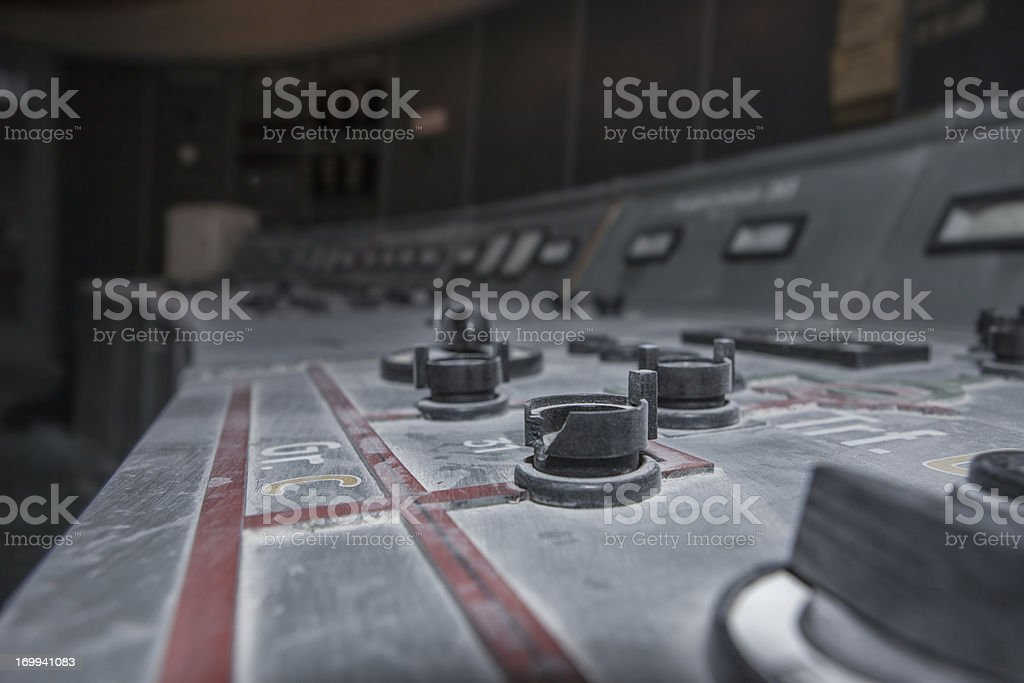 abandoned nuclear reactor stock photo
