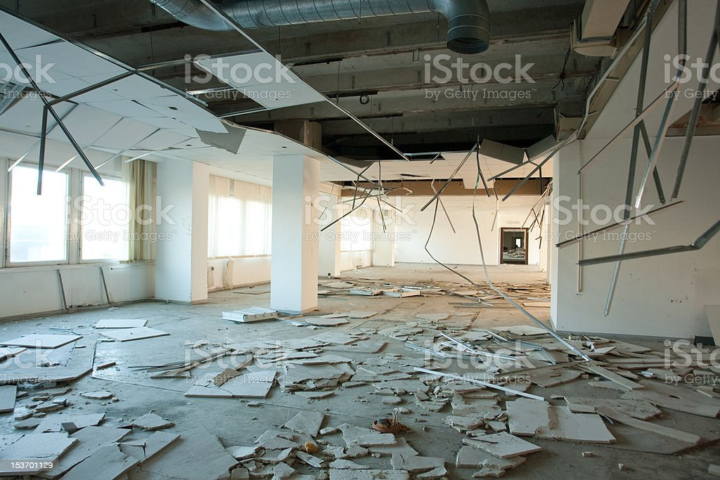 Abandoned Office Building stock photo