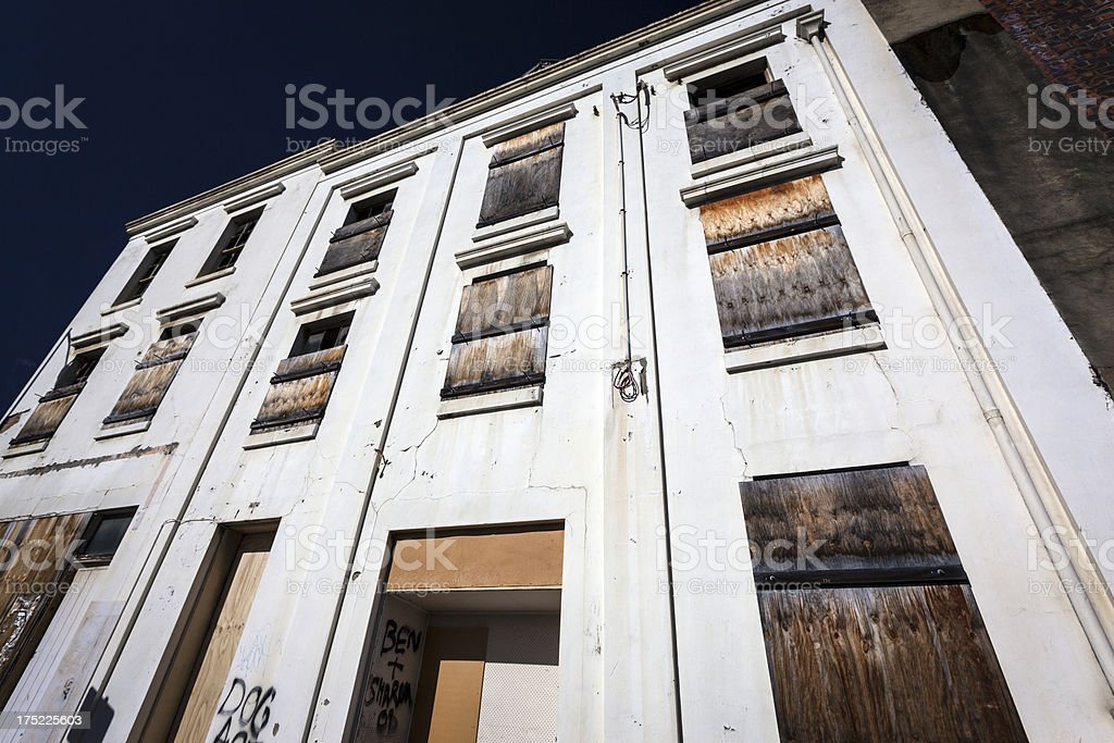 Abandoned office stock photo
