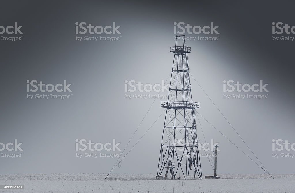 Abandoned oil and gas rig royalty-free stock photo