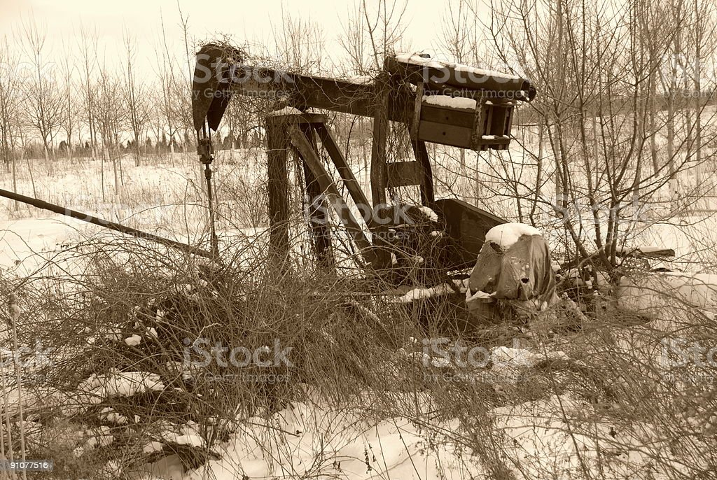 Abandoned Oil Well royalty-free stock photo