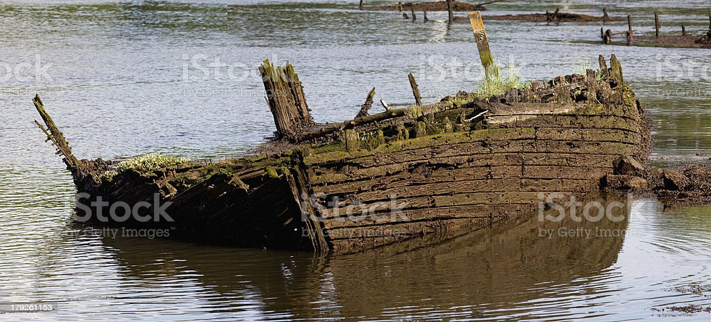 Abandoned old boat. royalty-free stock photo