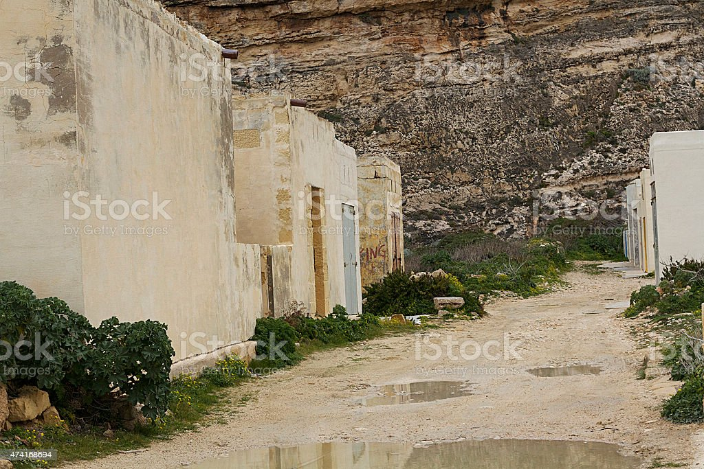 Abbandonato edificio, Gozo foto stock royalty-free